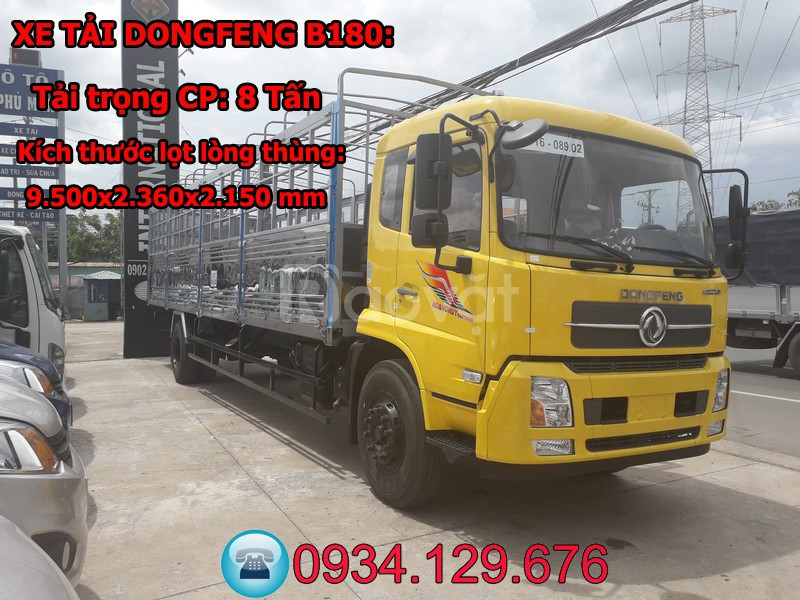 Xe tải Dongfeng B180 8 tấn thùng dài 9m5 nhập khẩu