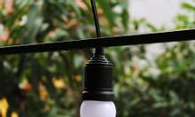 Dây đèn treo ngoài trời - Đèn treo sân thượng E27