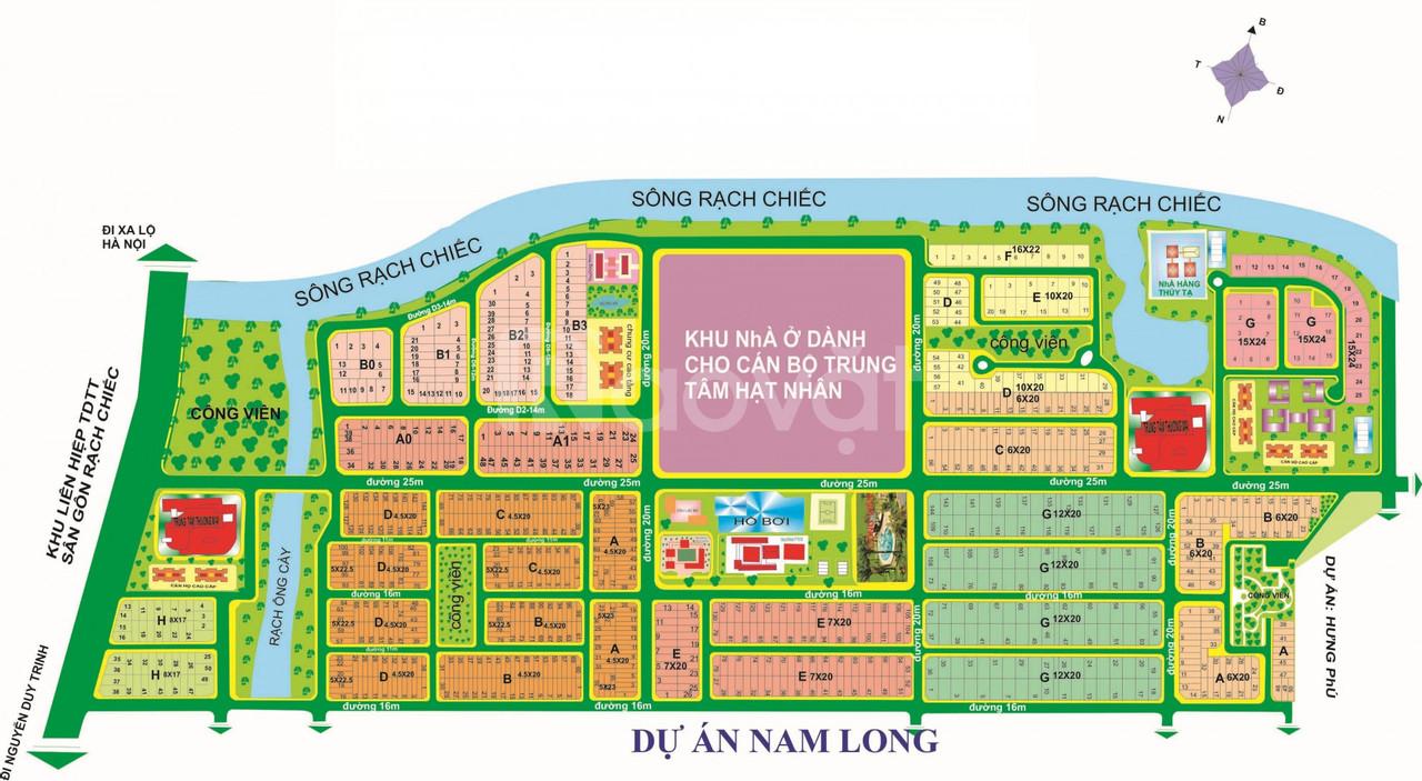 Nhượng QSD đất dự án Nam Long - Quận 9 DT 90m2 sổ đỏ