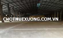Cho thuê kho xưởng tại thành phố Bắc Giang DT 2005m2 giá tốt