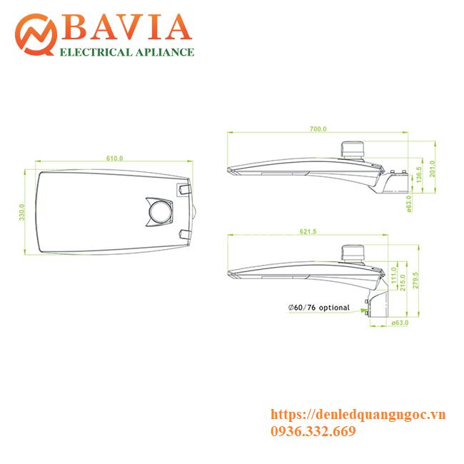 Đèn đường Led BAVIA BA-SA42-200W (ảnh 1)