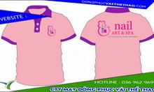 Cơ sở may áo đồng phục tiệm nail vải thun lạnh