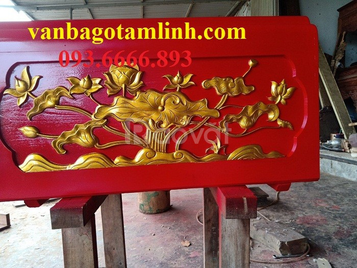 Quách trạm sen sơn PU Q04   gỗ vàng tâm