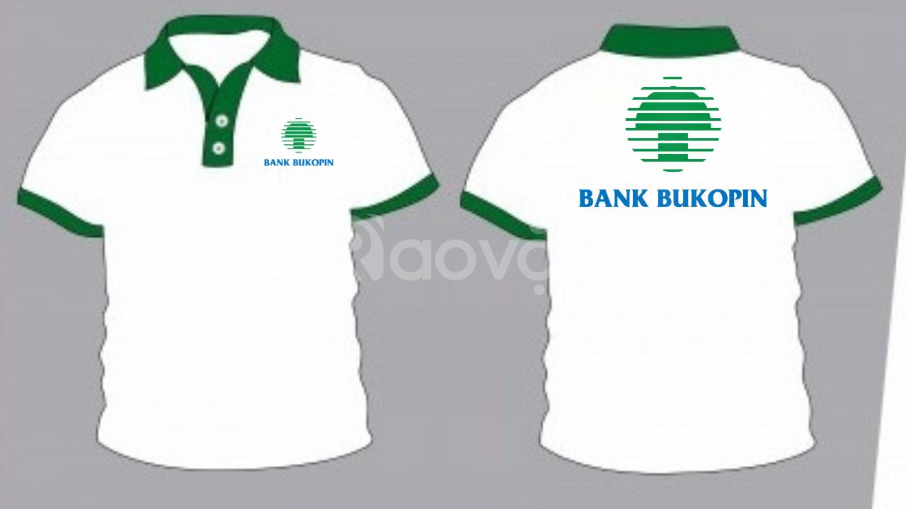 Đặt may áo thun đồng phục ngân hàng vải mè