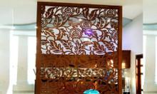 Vách ngăn phòng khách bằng gỗ đẹp, giá vách ngăn di động