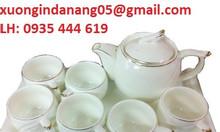 Nhận làm ấm tách trà gốm sứ quà tặng khách hàng tại Đà Nẵng