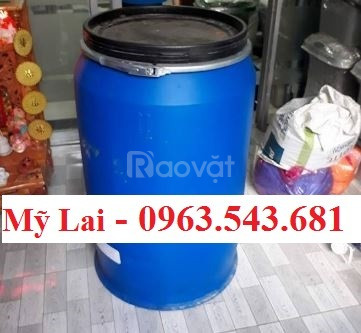 Bán rẻ phuy nhựa 220 lít đựng hóa chất, phuy nhựa 220 lít 2 nắp