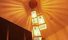 Đèn gỗ thả trần, đèn gỗ trang trí phòng khách