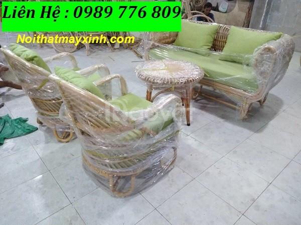 Sofa mây tre tự nhiên, ghế sofa đan mây giá rẻ