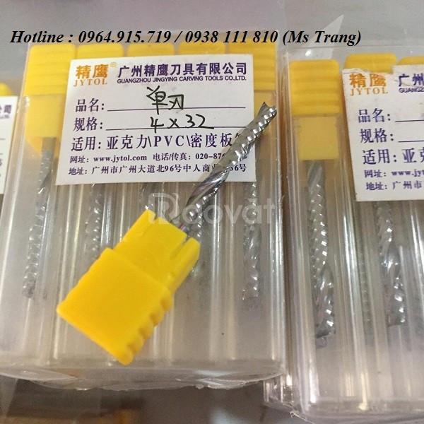 Dao CNC cắt khắc gỗ dao xoắn 1 me gía rẻ tại Hưng Yên