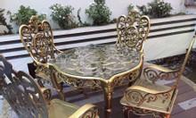 Bàn ghế nhôm đúc giá rẻ tại Hà Nội
