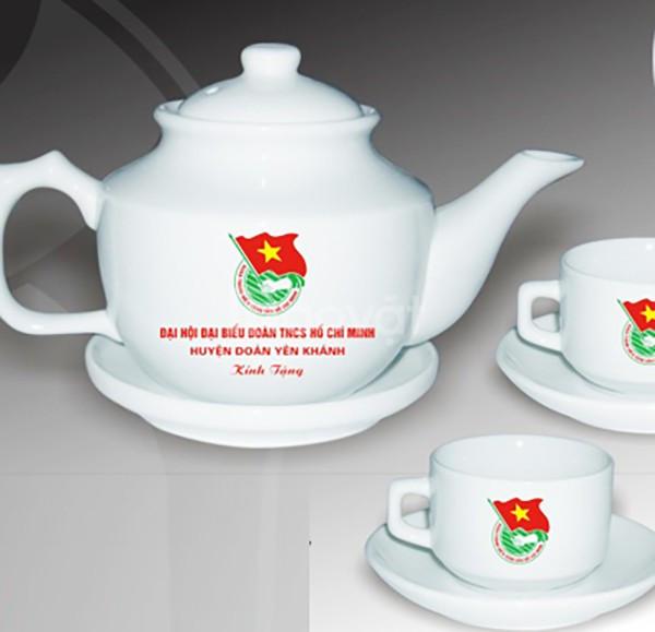 Công ty in logo bộ ấm trà quà tặng Quảng Nam Quảng Ngãi