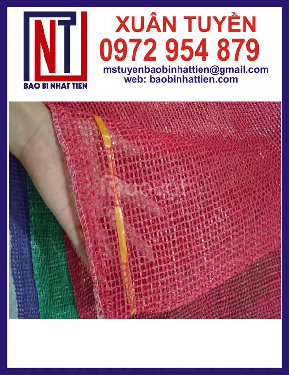 Túi lưới nông sản, túi lưới màu đỏ