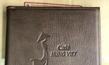 Đặt in quyển menu da, in menu nhà hàng, báo giá in menu da
