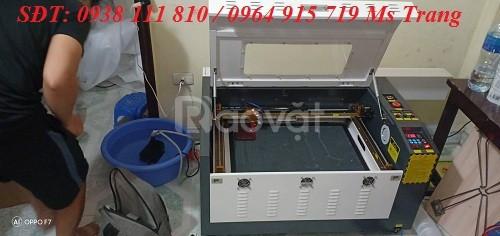 Máy laser cắt khắc gỗ , máy laser cắt khắc da 6040