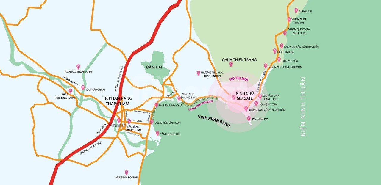 Sắp ra mắt dự án đất nền, sổ đỏ SeaGate Ninh Chữ, Ninh Thuận