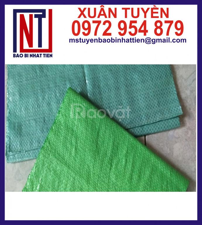 Sản xuất bao PP dệt màu xanh lá, xanh dương, xanh xám
