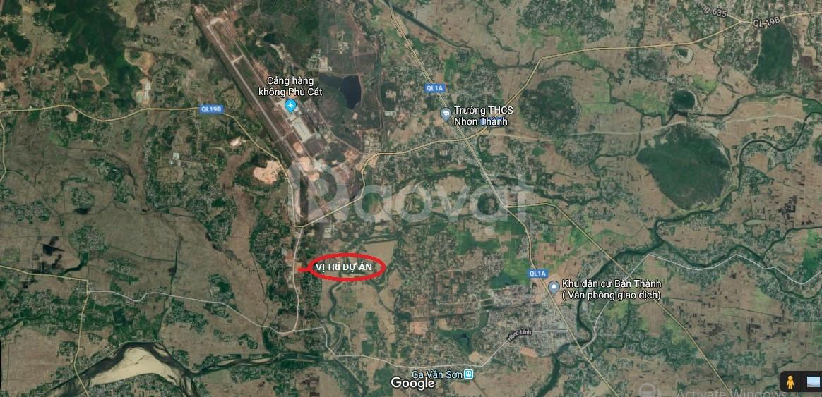 Cơ hội sở hữu đất nền ngay sân bay Quốc Tế Phù Cát chỉ với 750 triệu