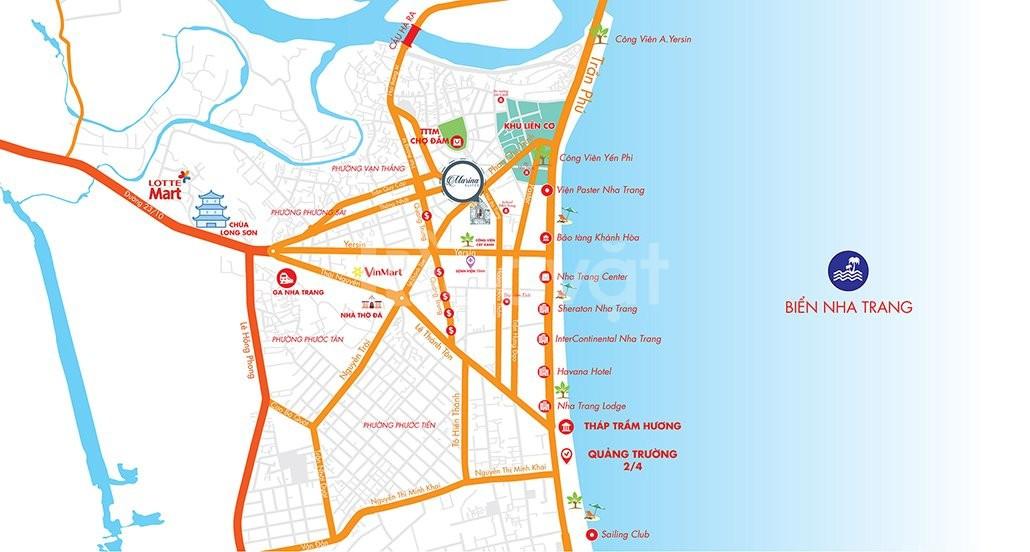 Căn hộ 4 sao Marina Suites, trung tâm TP Nha Trang