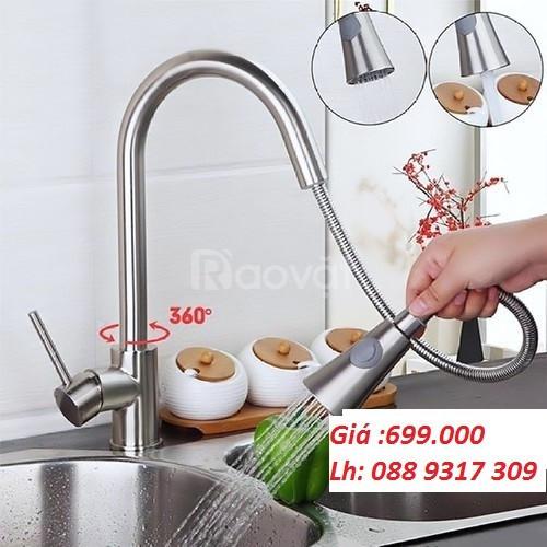 Vòi dây rút vòi rửa chén dây rút inox 304 khuyến mãi