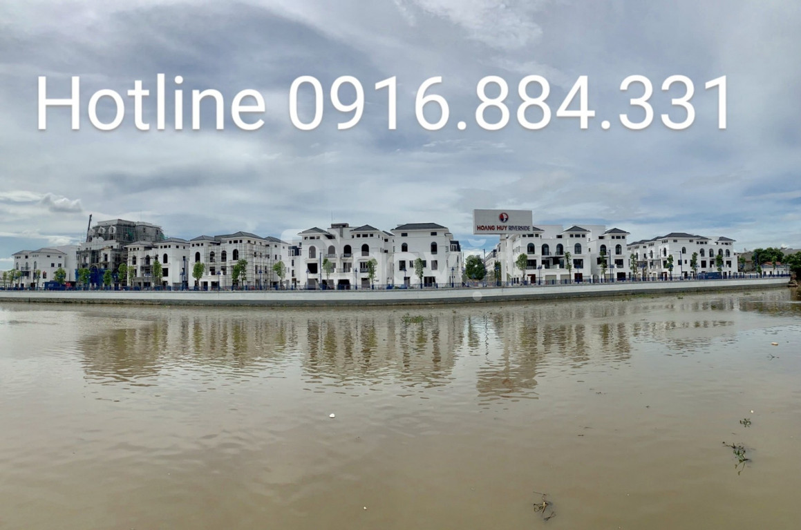 Căn biệt thự đơn lập góc dự án Hoàng Huy Sông Cấm vị trí đẹp