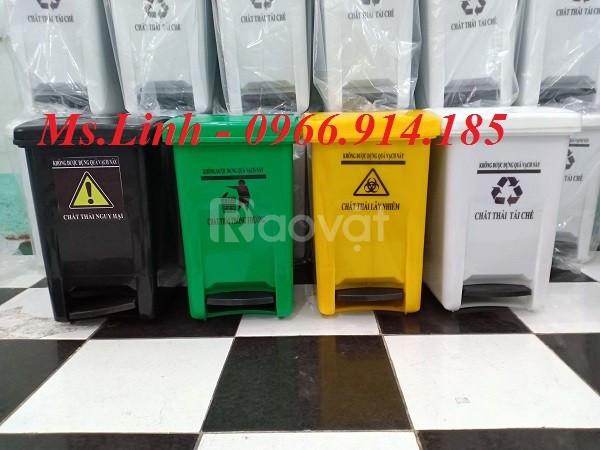 Thùng rác y tế 20 lít đạp chân, thùng rác dùng bệnh viện, văn phòng