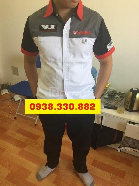 Bộ đồng phục yamaha kỹ thuật trưởng trắng đen cao cấp
