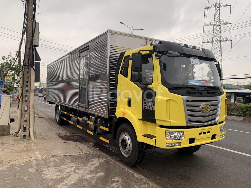 Xe tải faw 8 tấn thùng dài 9m7 chuyên chở pallet hàng cồng kênh
