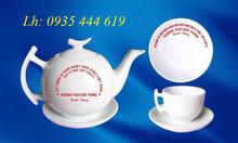 Ấm trà, tách trà, cốc sứ in logo quảng cáo doanh nghiệp tại Quảng Bình