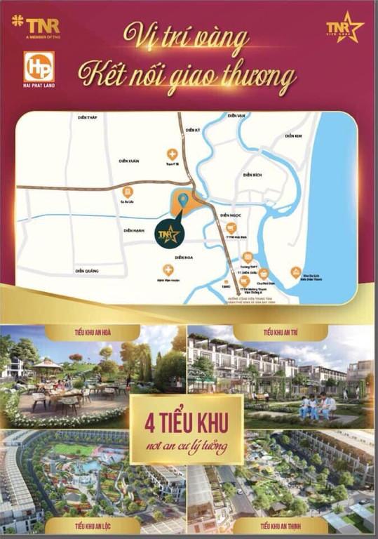 Bán đất nền dự án TNR Diễn Châu - giá chỉ 8,8tr/m2 - 14,8tr/m2.