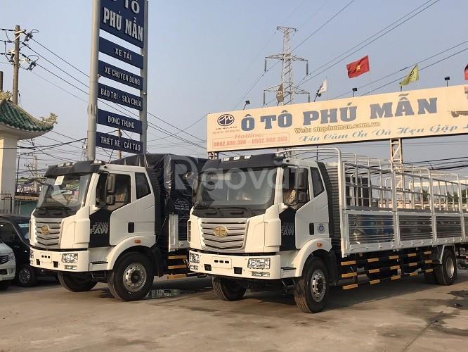 Xe tải Faw tải trọng 7 tấn 2 thùng dài 9m7 đời 2019 có hổ trợ trả góp