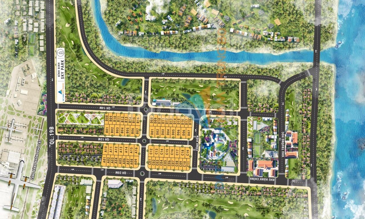 Bán đất ngay san bay Quốc Tế Phù Cát, KDC Bình Định SKy Park