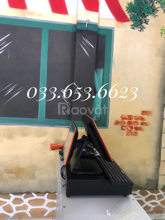Trọn bộ máy tính tiền 2 màn hình giá rẻ cho quán Trà Chanh