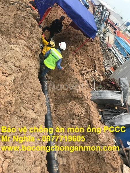 Băng keo bitum bảo vệ chống ăn mòn ống PCCC