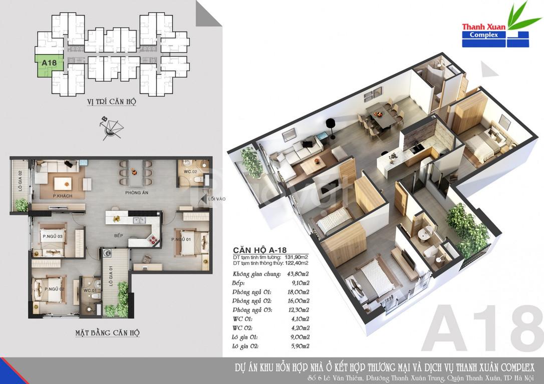 Chỉ cần 50% giá trị căn hộ nhận nhà ở ngay tại Thanh Xuân Complex 24T3