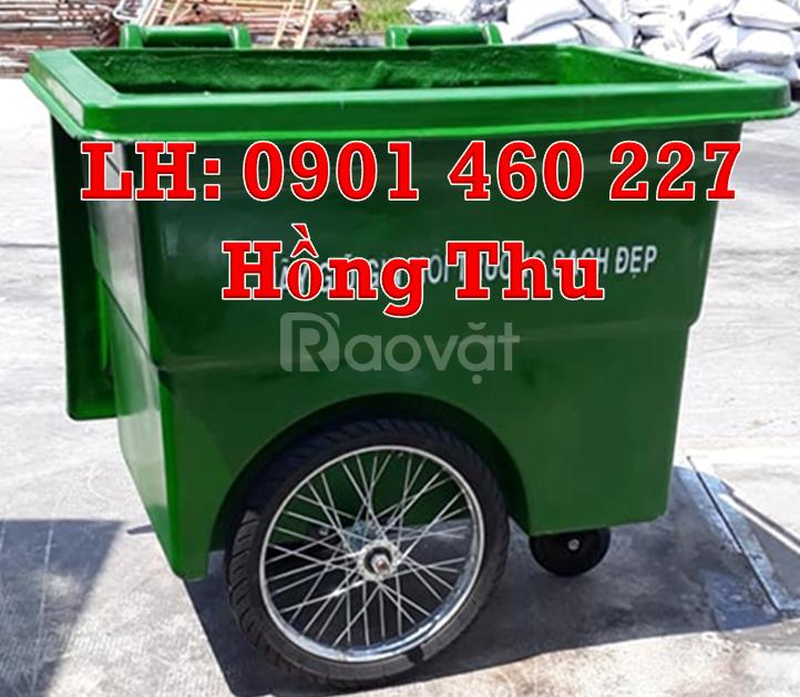 Thùng rác 1000 lít HDPE, thùng rác nhựa 660 lít composite