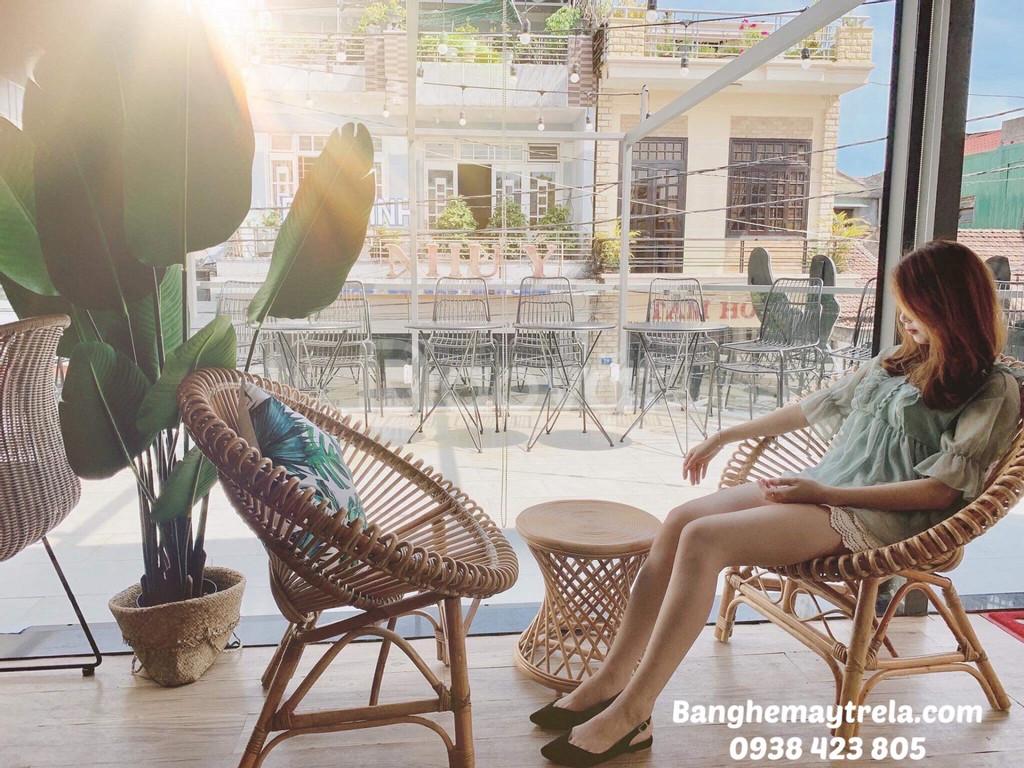 Bàn ghế mây tự nhiên, ghế mây cafe