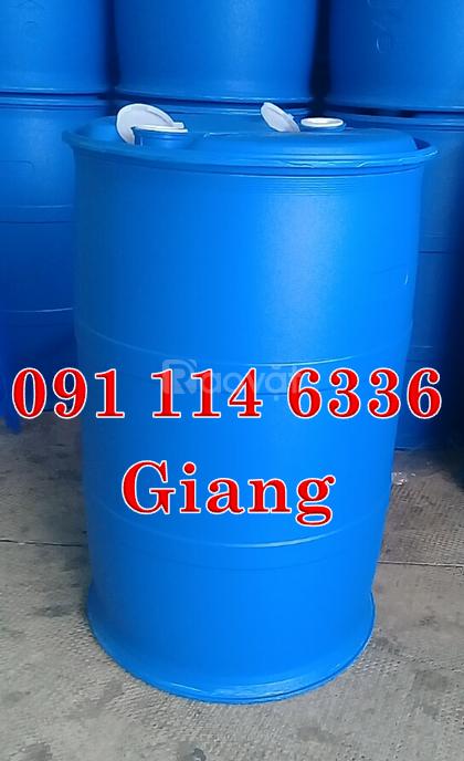Dụng cụ đựng hoá chất 220 lít, thùng phuy nhựa ,thùng phuy sắt, thùng