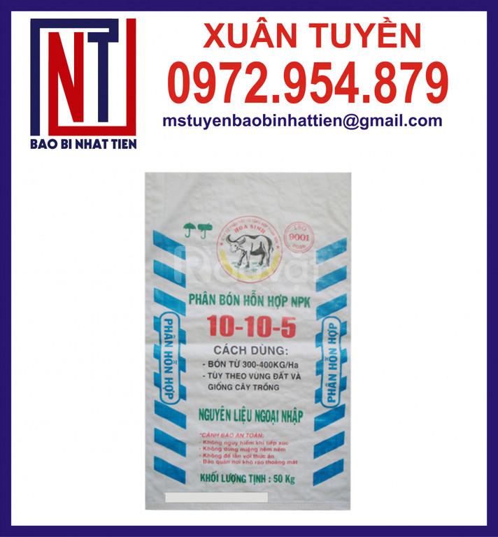 Bao pp dệt đựng 50kg, bao phân bón, bao gạo
