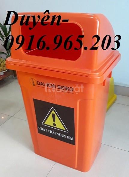 Thùng rác y tế 95l nắp hở
