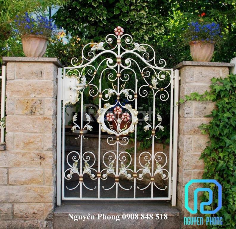 Gia công hoàn thiện mẫu cửa cổng rào, tường rào sắt uy tín, chất lượng
