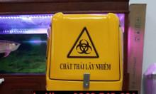 Thùng chở rác y tế màu vàng, thùng vận chuyển rác thải lây nhiễm