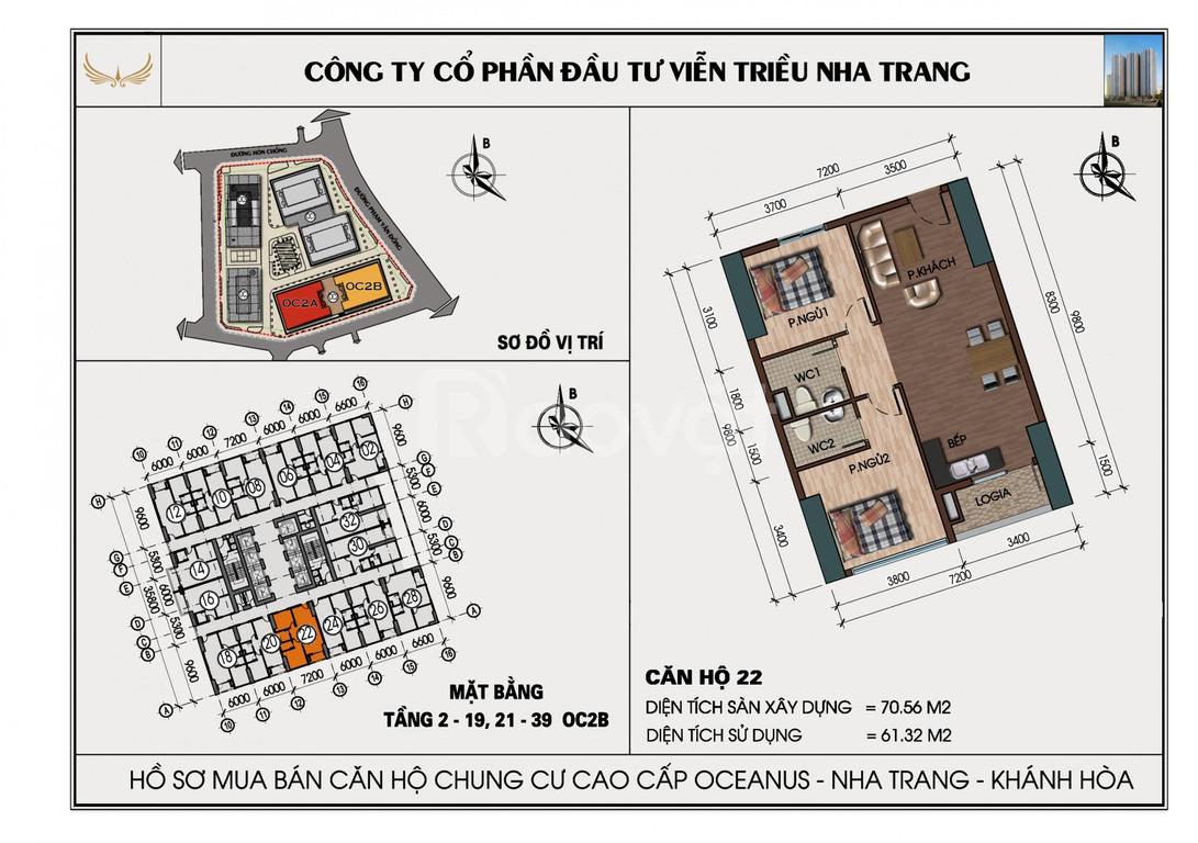 Căn hộ chung cư Mường Thanh Viễn Triều chính chủ