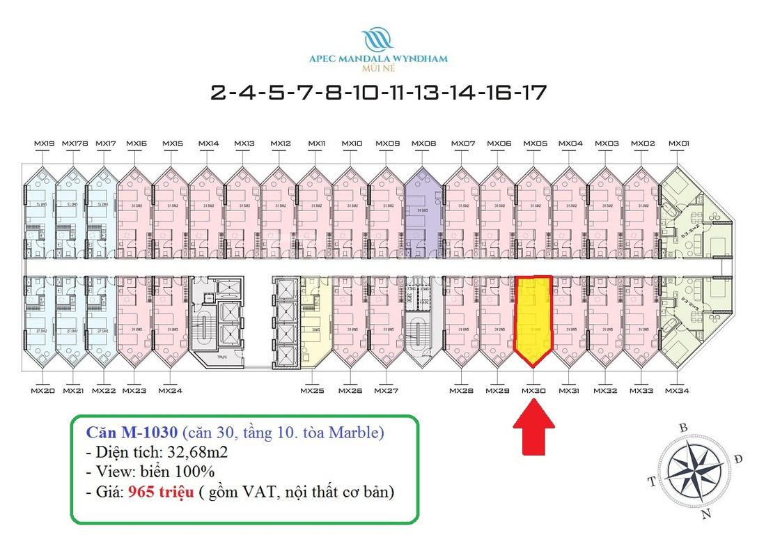 Apec Wyndham Mũi Né giá chỉ từ 900tr/căn, cam kết 12%/ năm, LN 150tr