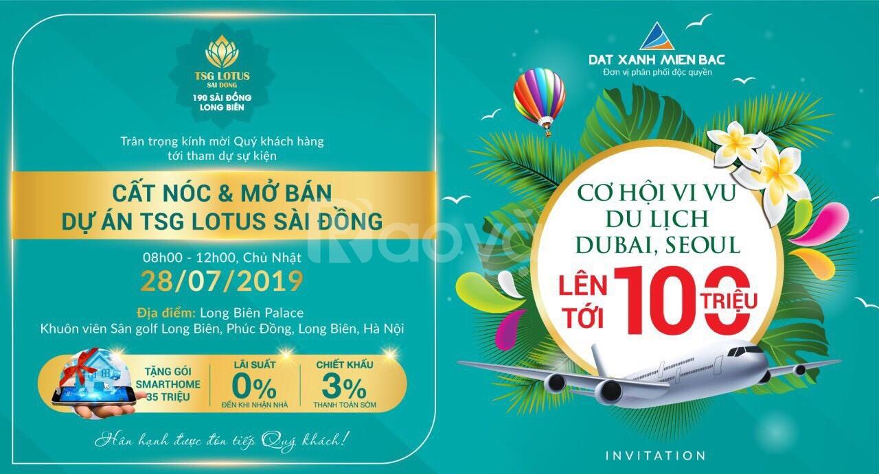 Cất nóc, ngập tràn quà tặng tại Tsg Lotus Sài Đồng, Long Biên