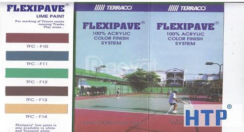 Phân phối sơn sân tennis Terraco Flexipave  smooth không cát gia rẻ.