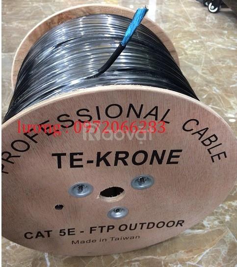 Cáp mạng TE-Krone Cat5E Copper(đồng) ngoài trời có sợi thép cường lực