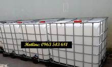 Bồn nhựa cũ đựng hóa chất 1000 lít, thùng cũ 1000 lít