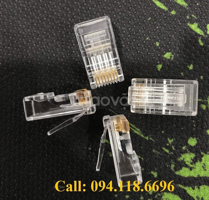 Đầu bấm Hạt mạng RJ45 Cat6 Commscope/ AMP mã 5-554720-3