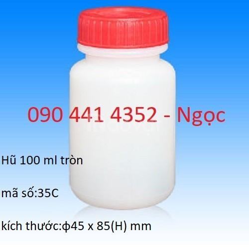 Hũ nhựa 500g, 500ml, hũ đựng hoá chất 500ml nắp vặn